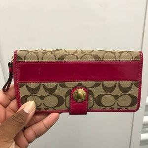 Coach Pink/Brown Wallet